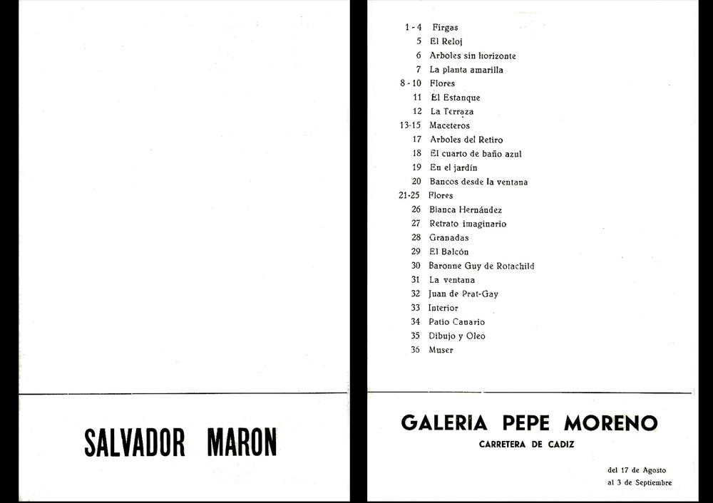 cataloque Pepe Moreno, Marbella