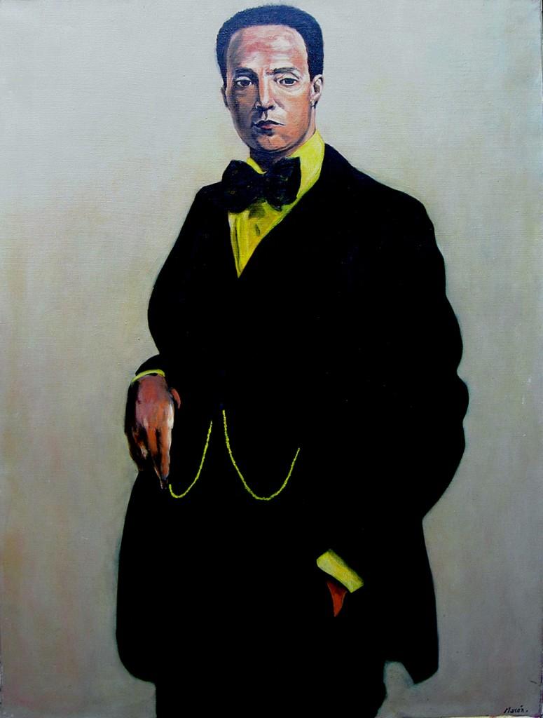 Oil painting of Juan Paris 1977
