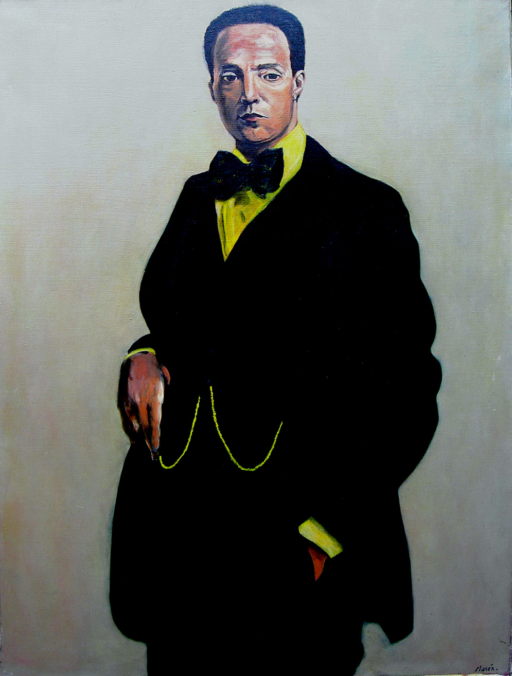 Oil painting of Juan Paris 1977
