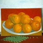 Painting of oranges in progress..