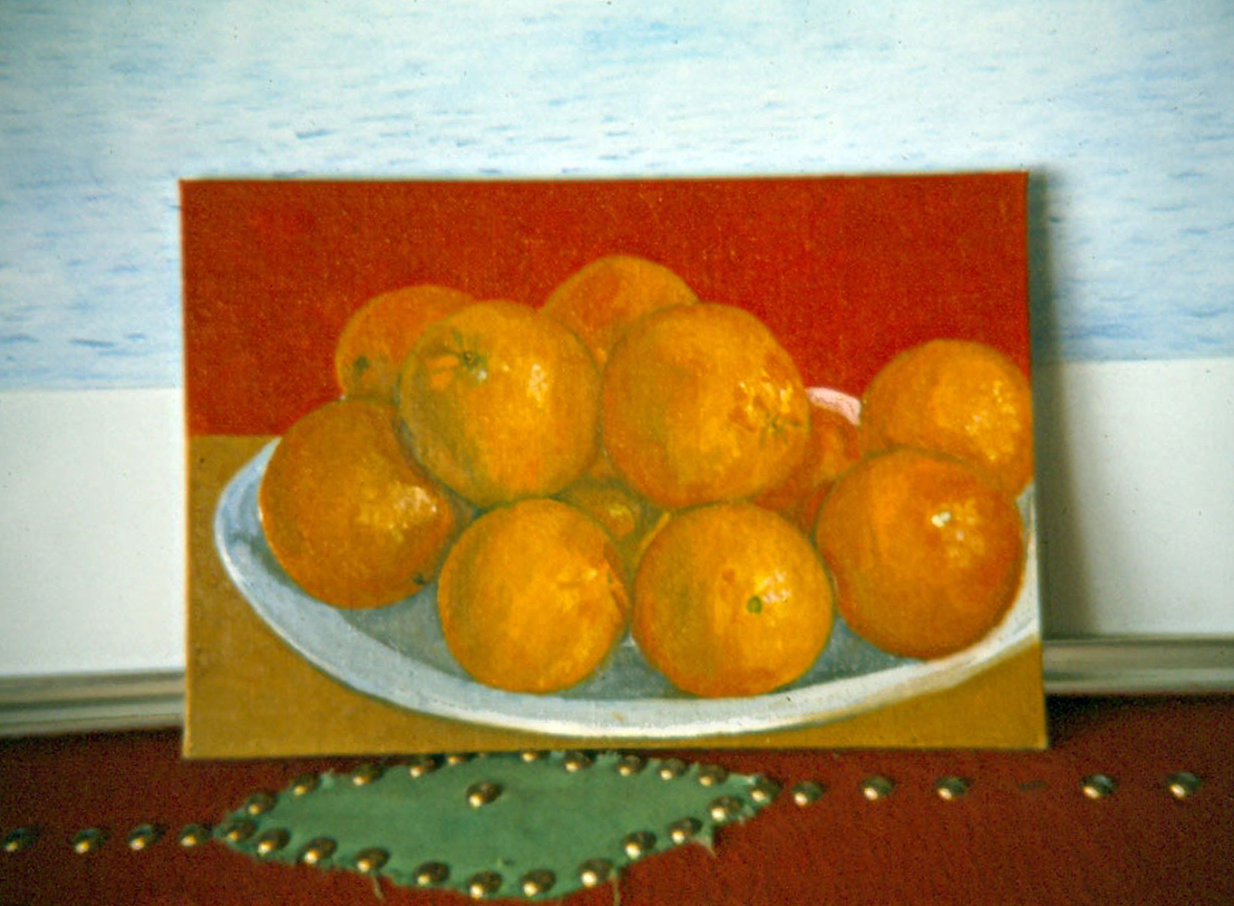 Painting of oranges in progress..