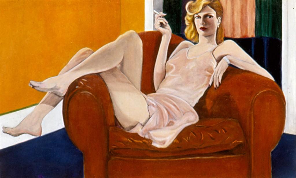 painting Willy smoking 1975