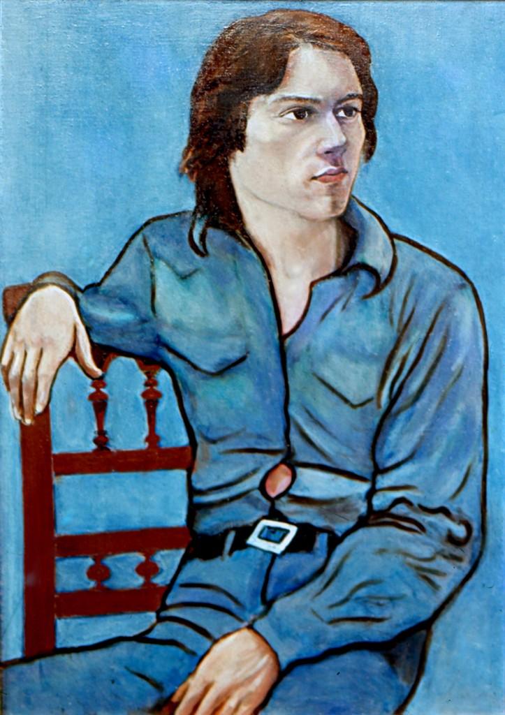portrait of Jesus, spanish friend Paris 1973