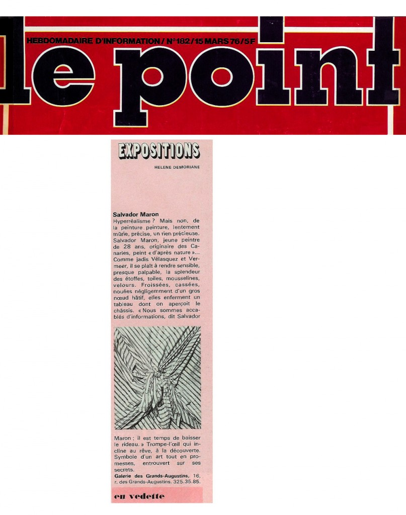 critic in Le Point-Paris