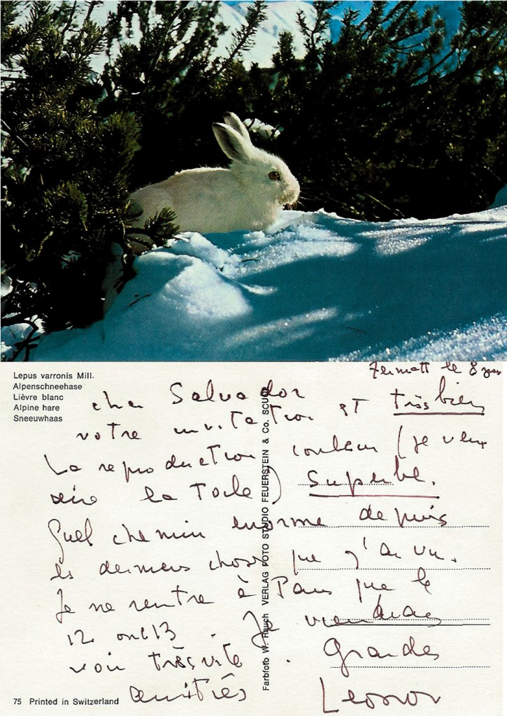 postcard from Leonor Fini -exh.