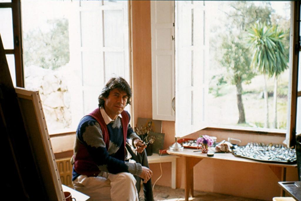 Sal in his studio N de A