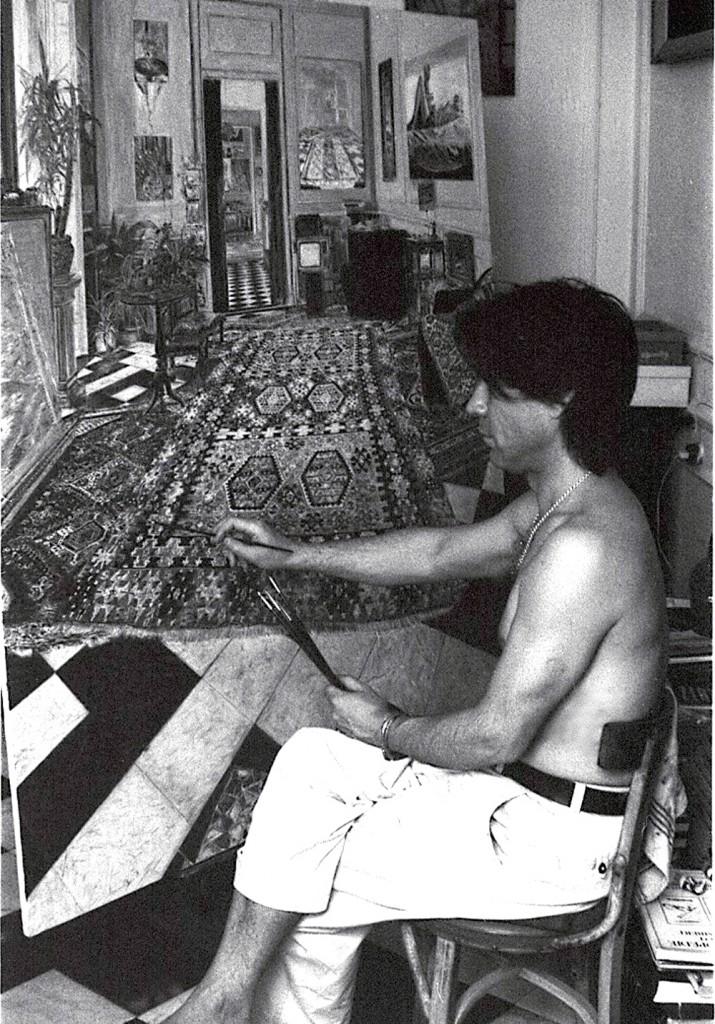 painting the Studio in Madrid 2