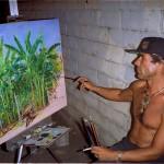 4. painting Tino's garden