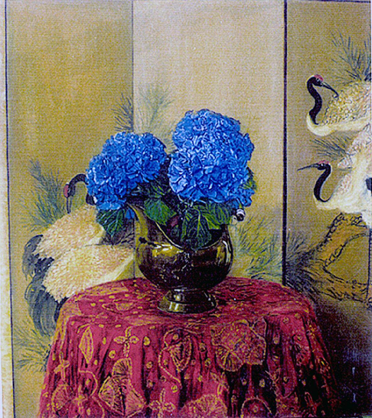 7. Blue Hortensias-90x80 cm