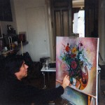1. painting the flowers