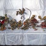 2. dried autumn leaves-70x50 cm